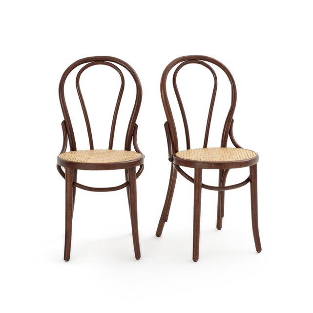 Καρέκλα με κάθισμα από ζαχαροκάλαμο, BISTRO (σετ των 2)