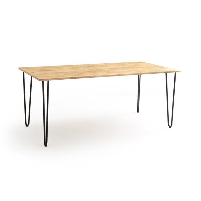 Τραπέζι από μασίφ βελανιδιά 8 ατόμων ADZA