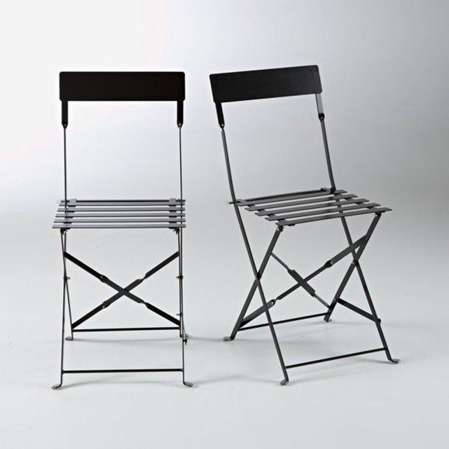 Μεταλλική σπαστή καρέκλα OZEVAN (σετ των 2)