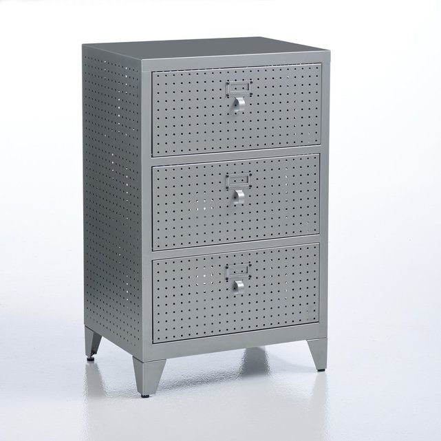 FACTY 3- Διάτρητο Μεταλλικό ντουλάπι με συρτάρια