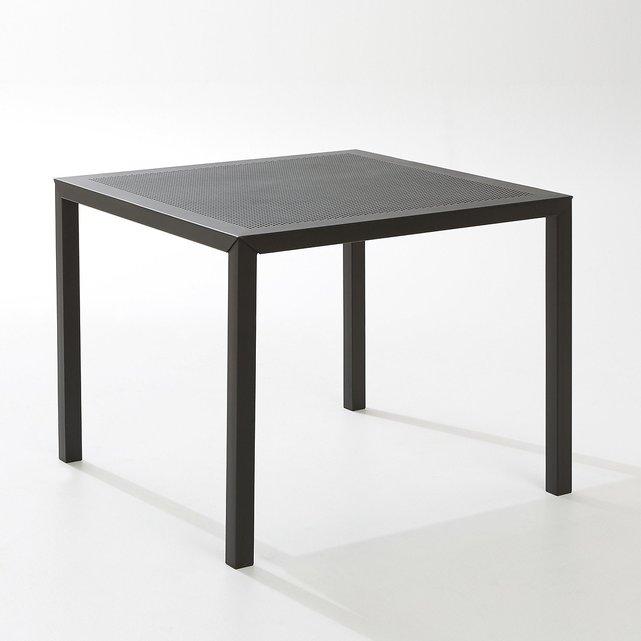 Τετράγωνο διάτρητο μεταλλικό τραπέζι κήπου CHOE