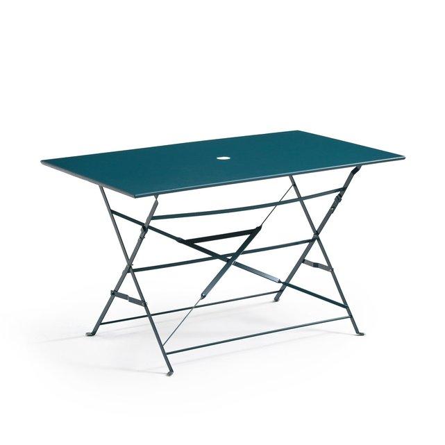 Πτυσσόμενο μεταλλικό ορθογώνιο τραπέζι OZEVAN