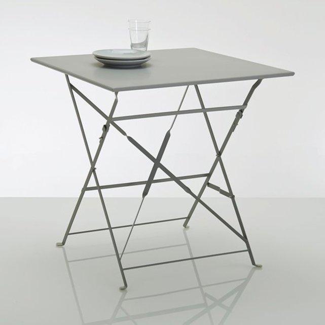 Πτυσσόμενο μεταλλικό τετράγωνο τραπέζι OZEVAN