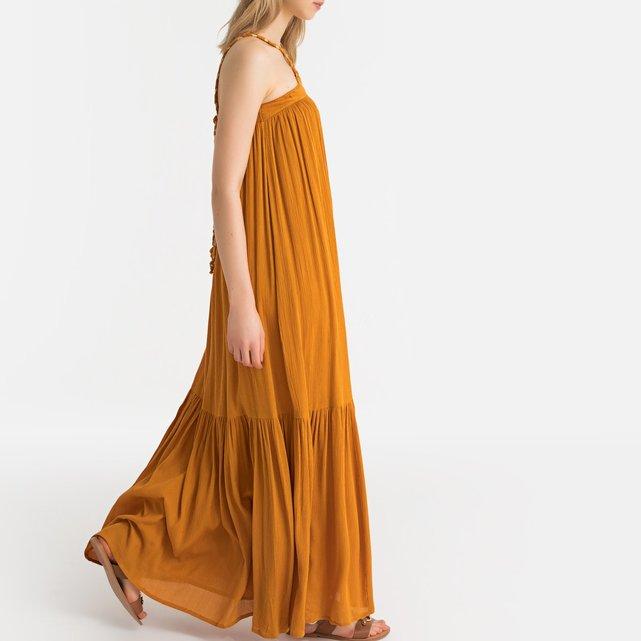 Μάξι φόρεμα με λεπτές τιράντες