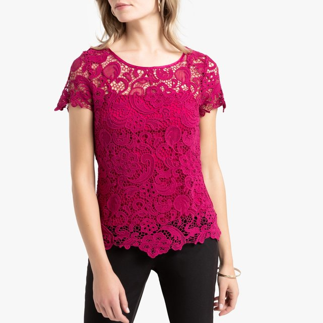 100% Cotton Guipure Lace Blouse