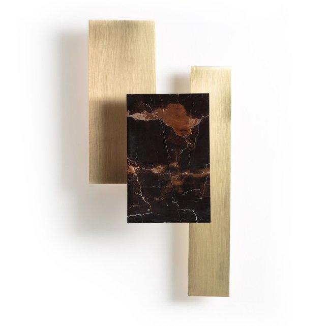 Σύγχρονο φωτιστικό τοίχου από μάρμαρο και ορείχαλκο, Portson