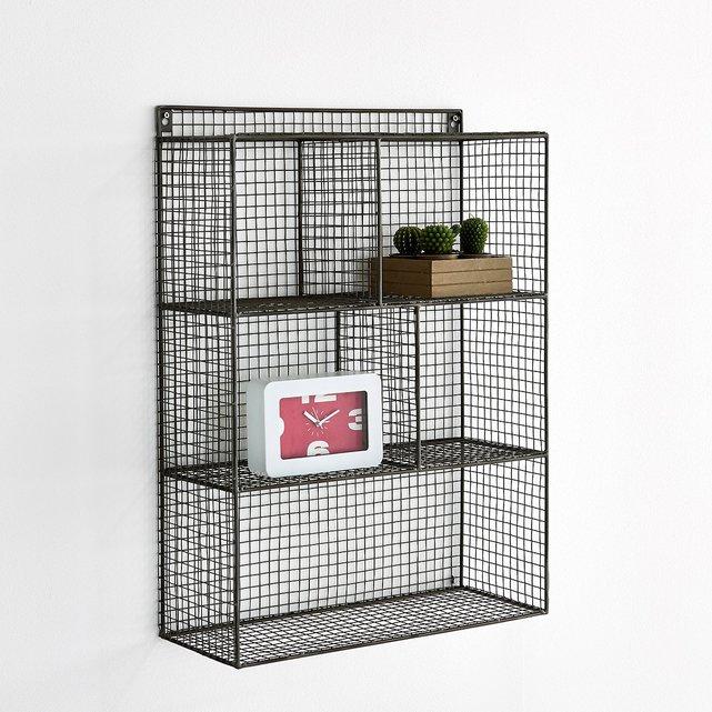 Μεταλλική ραφιέρα τοίχου με 5 χωρίσματα, AREGLO