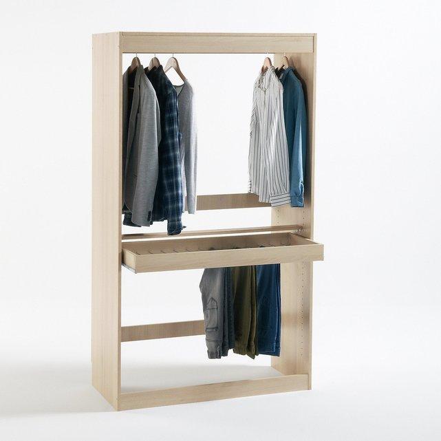 Ντουλάπα με ράβδο για μπλούζεςπουκάμισα + ράγα για παντελόνια, Build