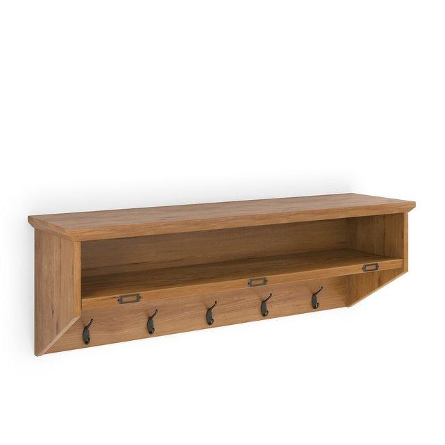 Ραφιέρα-κρεμάστρα από ξύλο πεύκου, Lindley