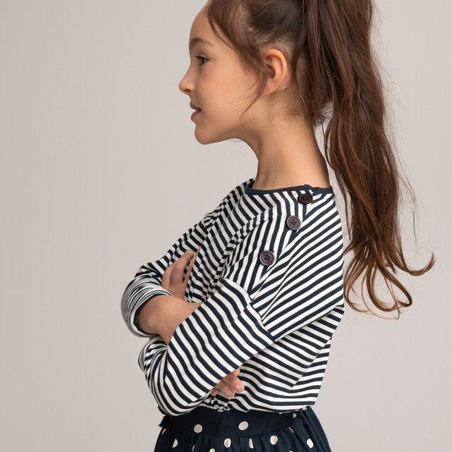 Μακρυμάνικη ριγέ μπλούζα, 3-12 ετών