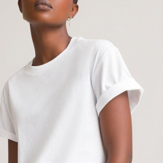 Τ-shirt με στρογγυλή λαιμόκοψη σε στυλ boyfriend