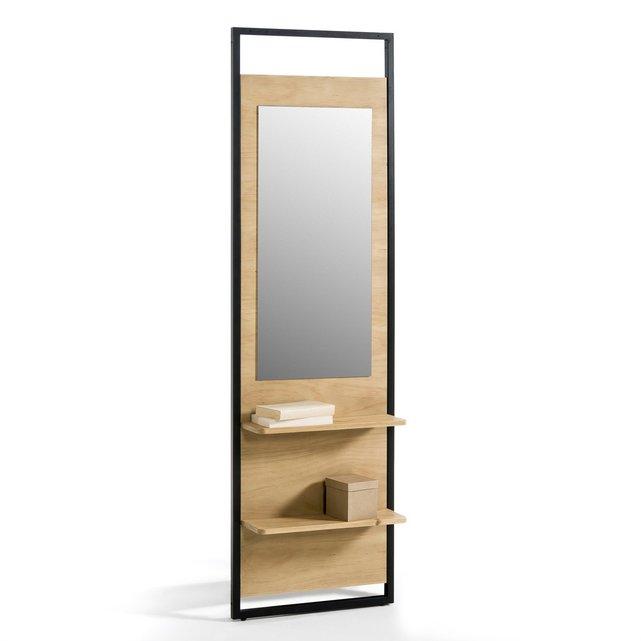 Καθρέφτης ντουλάπας με 2 ράφια, HIBA