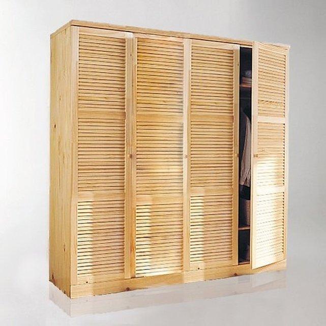 Ντουλάπα από μασίφ ξύλο πεύκου, Mayor, Υ205 εκ.