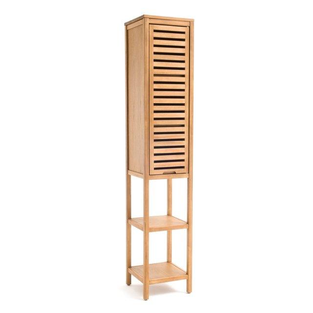 Στήλη μπάνιου από ξύλο ακακίας με ελαιόχρωμα, HAUMEA