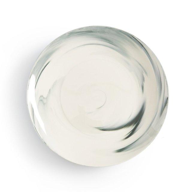 Σετ 4 ρηχά πιάτα με μαρμάρινη όψη, Shibori