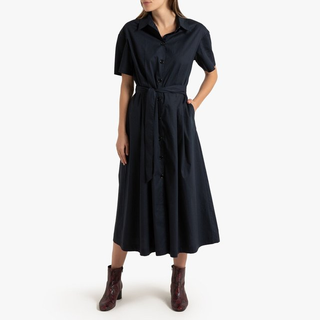 Μακρύ σεμιζιέ φόρεμα σε εβαζέ γραμμή