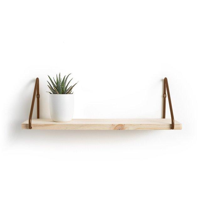 Ράφι τοίχου από ξύλο και μέταλλο, VINTO