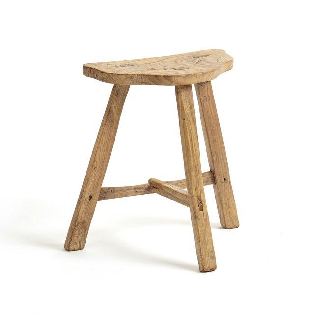 Σκαμπό με 3 πόδια από μασίφ ξύλο φτελιάς, Sumiko