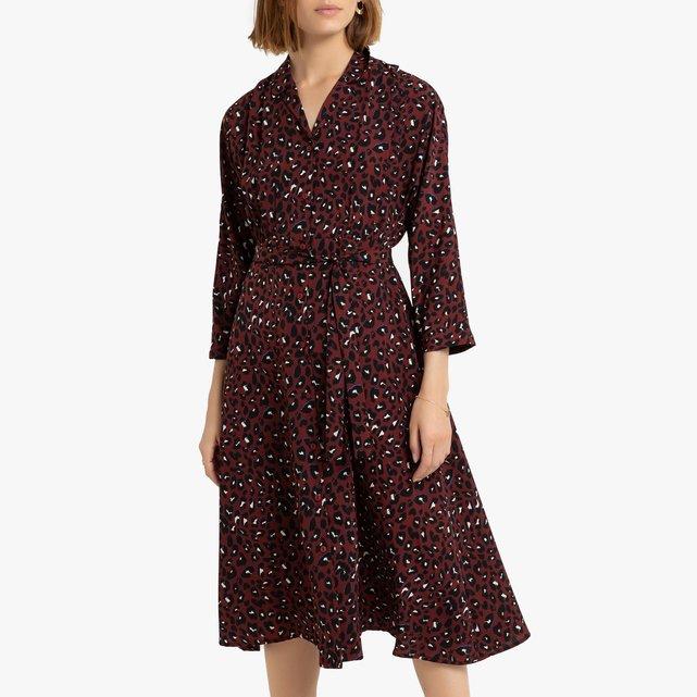Σεμιζιέ φόρεμα με ζώνη
