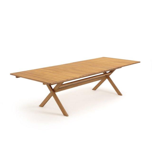 Πτυσσόμενο τραπέζι κήπου με διπλή επέκταση, από ξύλο ακακίας, Realto