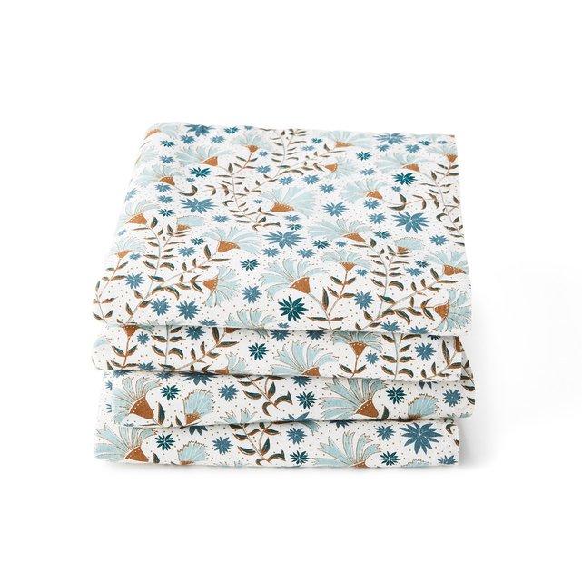 Σετ 4 πετσέτες φαγητού από προπλυμένο βαμβάκι, Kalyan