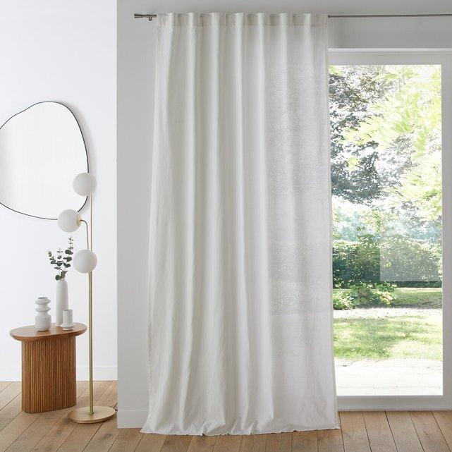 Κουρτίνα από 100% βαμβακερό ύφασμα με κρυφές θηλιές στο τελείωμα, Scenario