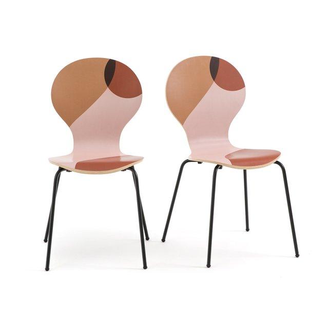 Σετ 2 εμπριμέ καρέκλες, BONNA