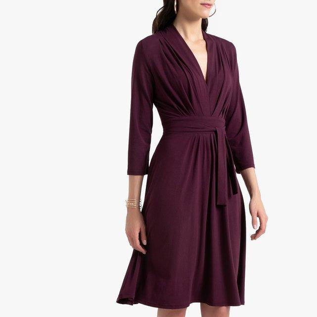 Εβαζέ χυτό φόρεμα με μανίκια 3 4