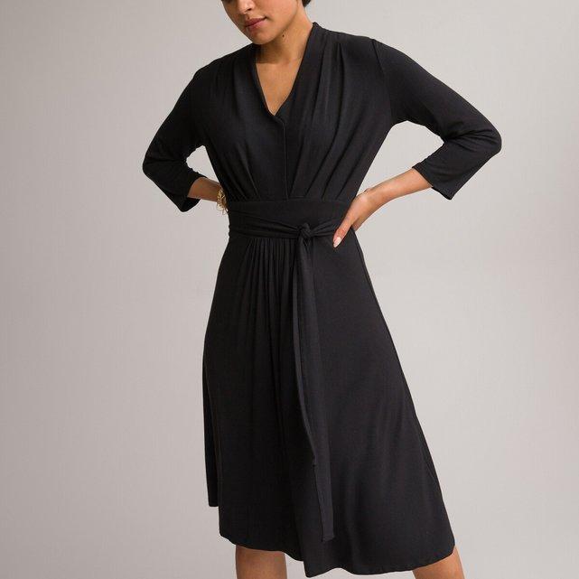 Εβαζέ χυτό φόρεμα με μανίκια 3|4