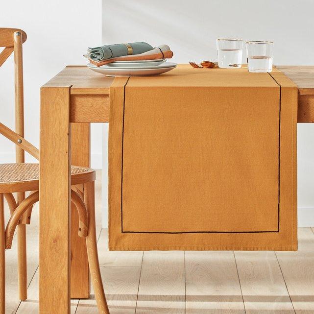 Τραβέρσα από προπλυμένο βαμβακερό λινό ύφασμα, Metis Bourdon