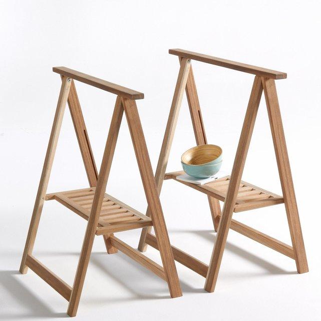 Έπιπλο-καβαλέτο από ξύλο ακακίας, Julma, σε σετ των 2
