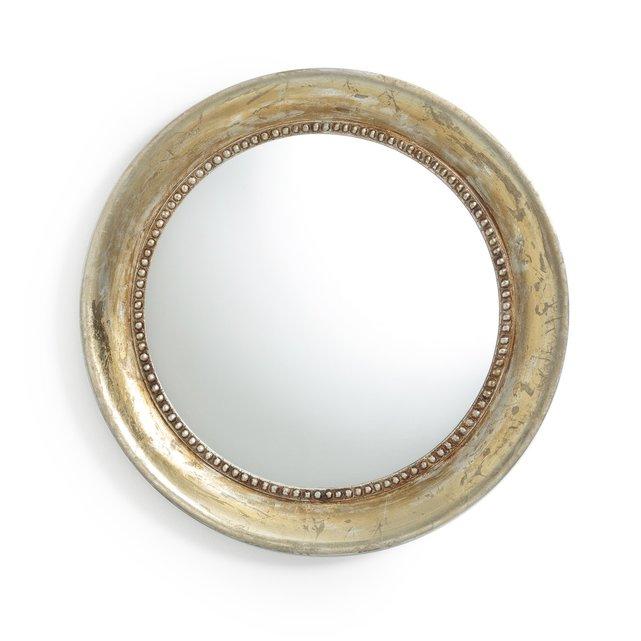 Στρογγυλός επίχρυσος καθρέφτης με παλαιωμένη όψη, AFSAN