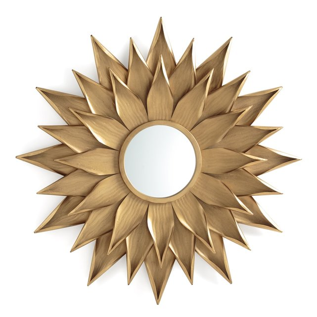 Καθρέφτης σε σχήμα ηλίανθου Δ82,5 εκ., Tylar