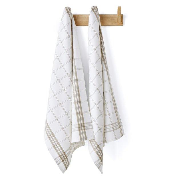 Καρό πετσέτες κουζίνας, σετ των 2