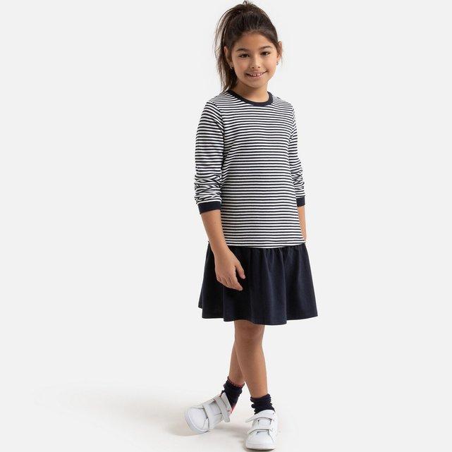 Φόρεμα με όψη 2 σε 1 σε στυλ μαρινιέρας, 3-12 ετών