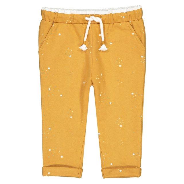 Εμπριμέ παντελόνι jogpant από φανέλα με αστέρια, 1 μηνός - 3 ετών