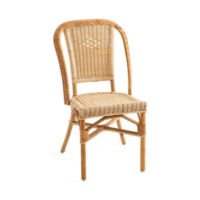 Καρέκλα κήπου από φυσικό ρατάν Albertine