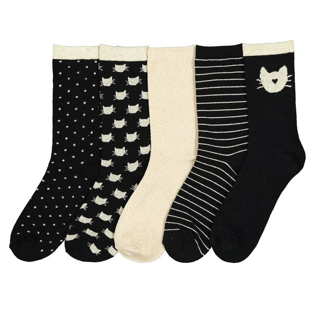 Σετ 5 ζευγάρια κάλτσες, 23|26-35|38