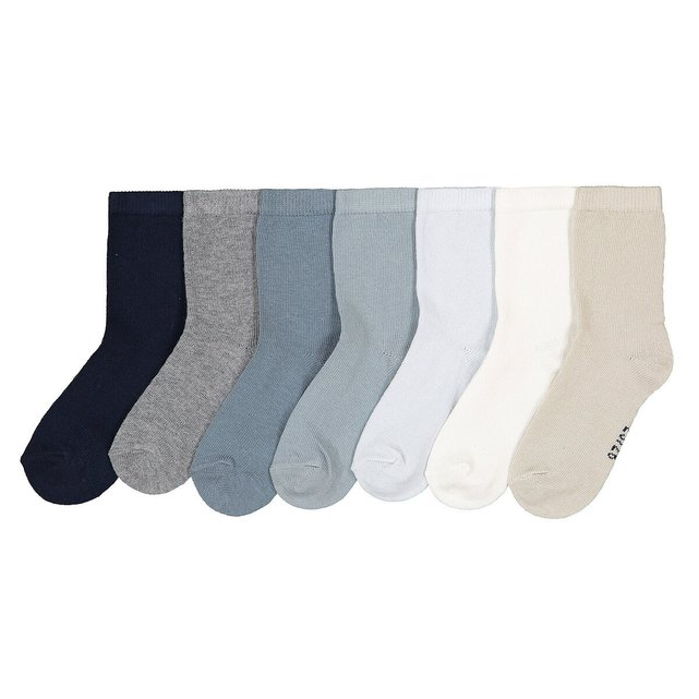 Lot de 7 paires de chaussettes unies 15 18-23 26
