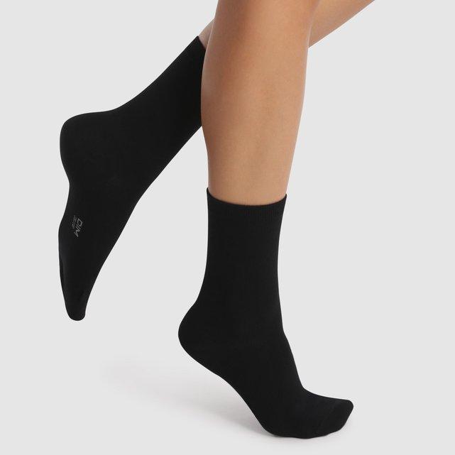 Lot de 4 paires de mi-chaussettes coton