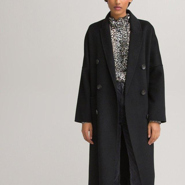 Μακρύ παλτό με διπλό κούμπωμα