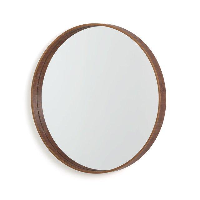 Στρογγυλός καθρέφτης από ξύλο καρυδιάς, ALARIA