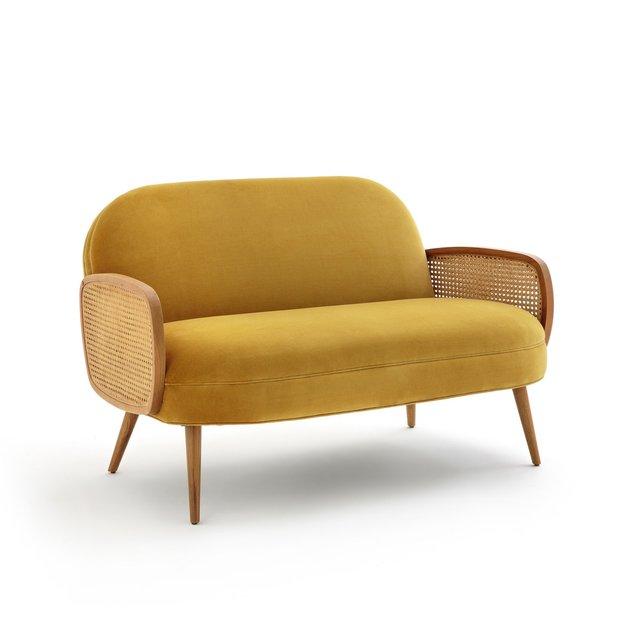 Καναπές από βελούδο και ψάθα, BUISSEAU