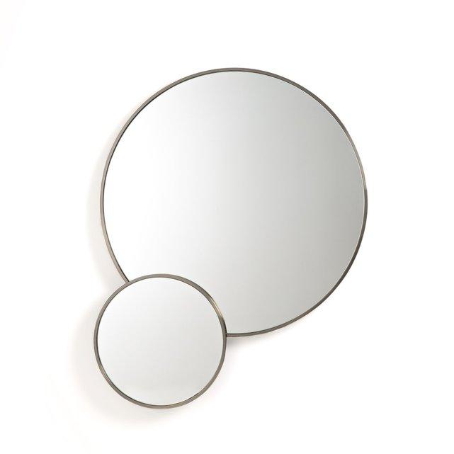 Διπλός μεταλλικός καθρέφτης με μπρονζέ παλαιωμένο φινίρισμα, Caligone