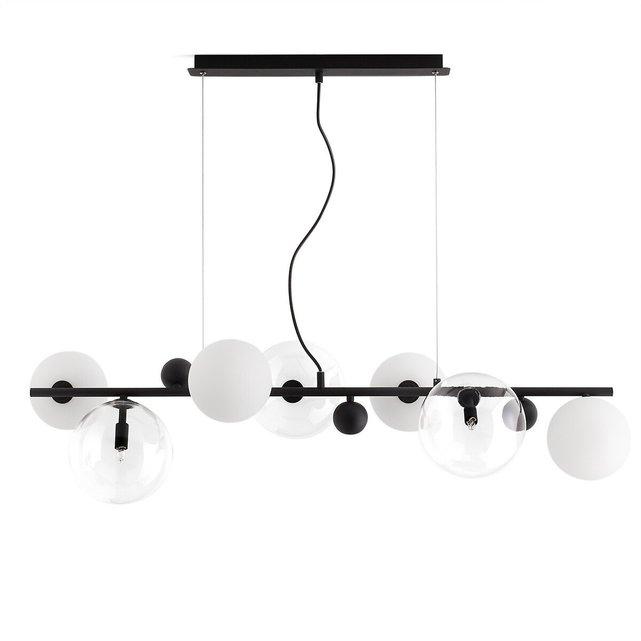Φωτιστικό οροφής από γυαλί και μέταλλο, Bullesco