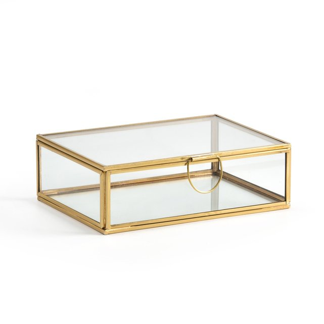 Ορθογώνιο κουτί-βιτρίνα από γυαλί και μπρούντζο, Uyova