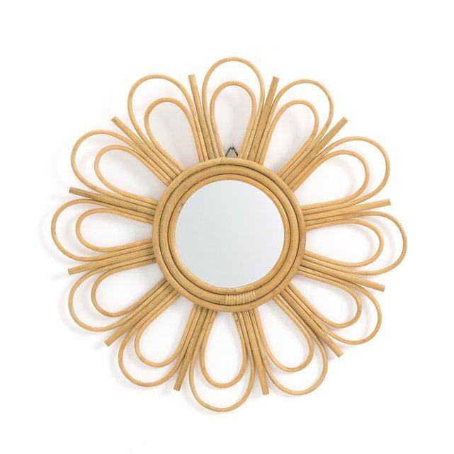 Καθρέφτης από ρατάν σε σχήμα μαργαρίτας Δ60 εκ., Nogu