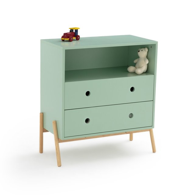 Παιδική συρταριέρα με 2 συρτάρια και 1 χώρισμα, Wallet