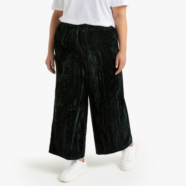 Φαρδύ παντελόνι από γκοφρέ βελούδο