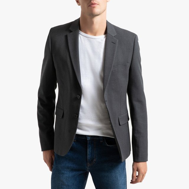 Μεσάτο σακάκι μπλέιζερ με μοτίβο πιε-ντε-πουλ